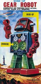 Retrobot - Wind-up Gear Robot