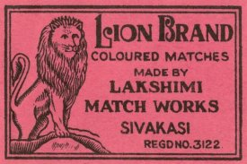 Phillumenart - Lion Brand Coloured Matches
