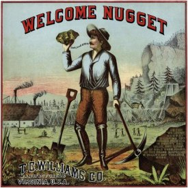 Unknown - Welcome Nugget Tobacco Label