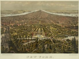 Unknown - Birds-eye view of Manhattan, New York