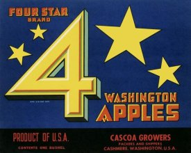 Unknown - Four Star Brand Washington Apples