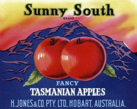 Retrolabel - Sunny South Tasmanian Apples