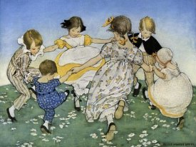 Jesse Willcox Smith - Girls in Circle - Ring Around the Rosie