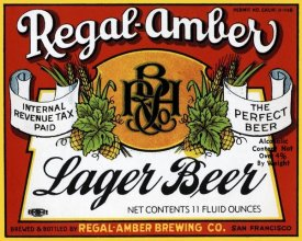 Vintage Booze Labels - Regal-Amber Lager Beer