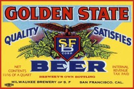 Vintage Booze Labels - Golden State Beer