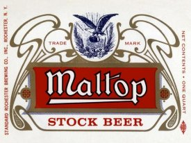 Vintage Booze Labels - Maltop Stock Beer
