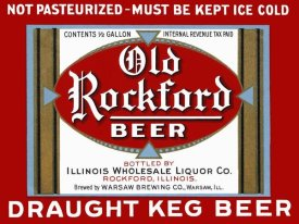Vintage Booze Labels - Old Rockford Beer