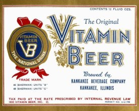 Vintage Booze Labels - Vitamin Beer