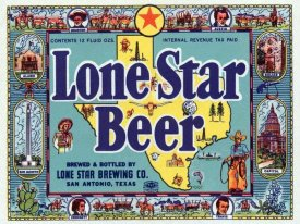 Vintage Booze Labels - Lone Star Beer