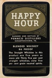 Vintage Booze Labels - Happy Hour Blended Whiskey