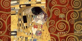 Klimt Patterns - The Kiss Gold