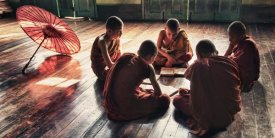 Scott Stulberg - Young monks reading books in monastery