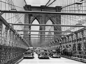 Unknown - Brooklyn Bridge New Road Opened to Traffic, 1951
