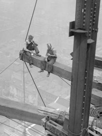 Unknown - Workers Sitting on Steel Beam, 1926