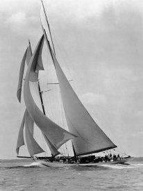 Edwin Levick - The Schooner Half Moon at Sail, 1910s