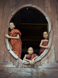 Scott Stulberg - Young monks in window of their monastery