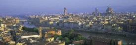 Lee Frost - Panoramic view of Florence across Arno River