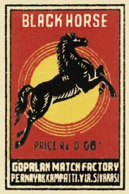 Phillumenart - Black Horse Matches