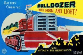 Retrotrans - Battery Operated Bulldozer with Horn and Light