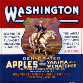 Retrolabel - Washington Brand Dehydrated Apples