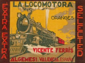 Retrolabel - La Locomotora Oranges