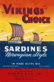 Retrolabel - Vikings Choise Sardines