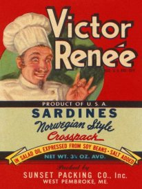 Retrolabel - Victor Renee Sardines