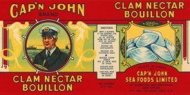 Retrolabel - Cap'n John Brand Clam Nectar Bouillon