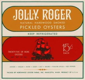 Retrolabel - Jolly Roger Pickled Oysters