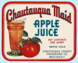 Retrolabel - Chautauqua Maid Apple Juice