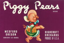 Retrolabel - Piggy Pears Crate Label