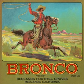 Retrolabel - Bronco Brand Crate Label