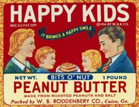 Retrolabel - Happy Kids Bits o' Nut Peanut Butter