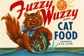 Retrolabel - Fuzzy Wuzzy Brand Cat Food