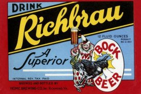 Vintage Booze Labels - Drink Richbrau Bock Beer