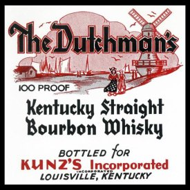 Vintage Booze Labels - The Dutchman's Kentucky Straight Bourbon Whiskey
