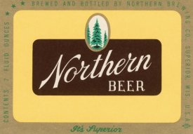Vintage Booze Labels - Northern Beer