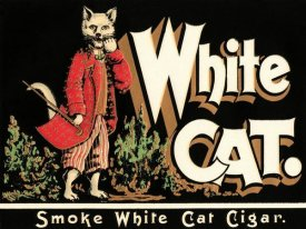 Vintage Booze Labels - White Cat Brand Cigars