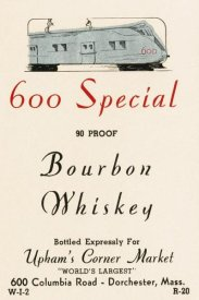 Vintage Booze Labels - 600 Special Bourbon Whiskey