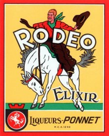 Vintage Booze Labels - Rodeo Elixir