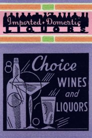 Vintage Booze Labels - Choice Wines and Liquors