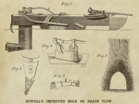 Inventions - Howell's Improved Mole or Drain Plow