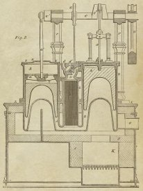 Inventions - Steam Power Piston Chamber Cutaway