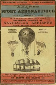Inventions - Broadside Announcement of a Balloon Ascension