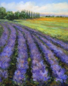 Jan E. Moffatt - Rows of Lavender