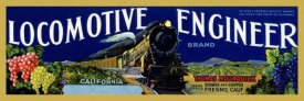 Retrotravel - Locomotive Engineer Brand California Grapes
