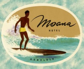 Retrotravel - Moana Hotel Luggage Label