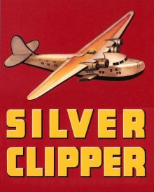 Retrotravel - Silver Clipper Crate Label
