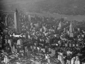 Anonymous - Aircraft over New York City, 1938 (detail)