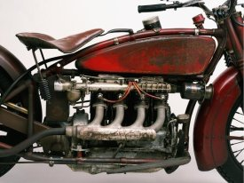 Markus Cuff - Detail of 4-cylinder Indian Ace, 1929